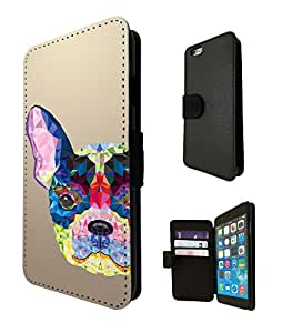 282 - Aztec Dog Face Design Fashion Trend TPU Leather Flip Case For Apple iPhone 5C Full Case Flip TPU Leather Purse Pouch Defender Stand Cover