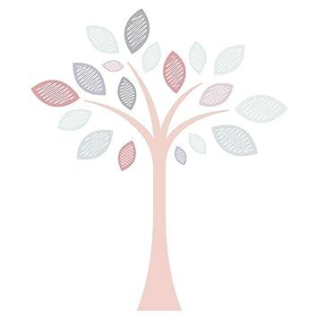 Wandtattoo Kinderzimmer Baum mit Blättern in tollen ...