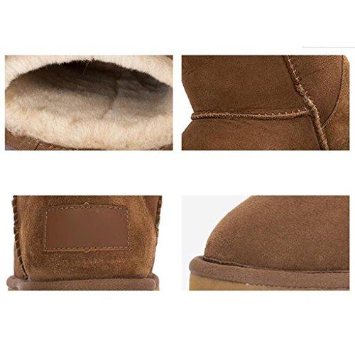 Chaussures en de Le dans Coton aux Femelle Neige Tube Hiver Yellow Bottes Neige Femmes Tv46ZP