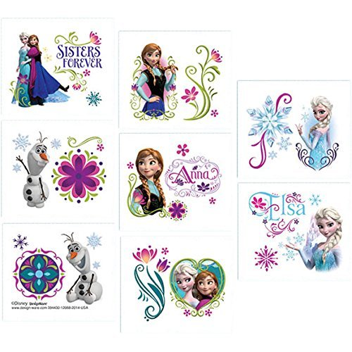 Disney Frozen Temporary Tattoo Birthday Party Favour and Prize Giveaway (Value Pack: 48-Count) (Disney Frozen Tattoos)