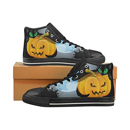 D-Story Custom Happy Halloween Pumpkin Womens Classic High Top Canvas Shoes Fashion Sneaker Multicoloured8 iFuJNxC