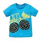 VIKITA Little Boys Short Sleeve Cool Bulldozer Print Cotton T-Shirt AB5079 6T