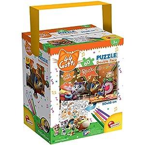 Liscianigiochi 44 Gatti Cats Rock Puzzle In A Tub Mini Multicolore 60 Pezzi 76598