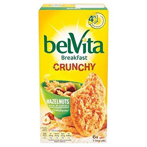 Belvita Crunchy Hazelnut - 6 x 50g (Hazelnut Cereal)