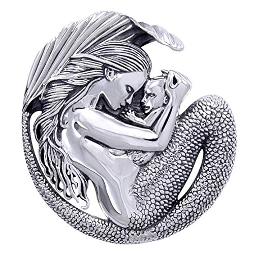 - Motherhood - Mommy Mermaid and Baby Sterling Silver Pendant