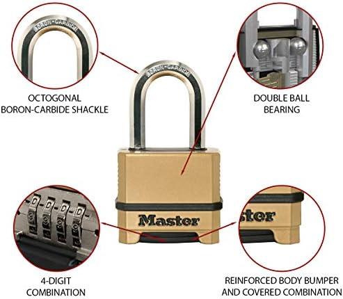 Masterlock Excell Level 9 4 Digit Weathershield Combination Padlock 9mm Shackle