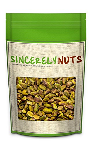 Sincerely Nuts Pistachios Roasted & Unsalted Kernels (No Shell) - Irresistibly Delish and Crunchy - Bursting with Antioxidants - Kosher