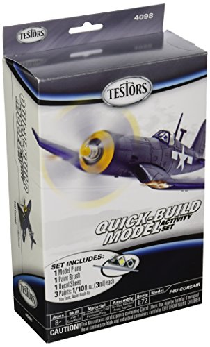 Testors F4U Corsair Quick Kit de Build–Modelo de avión (escala 1: 73)