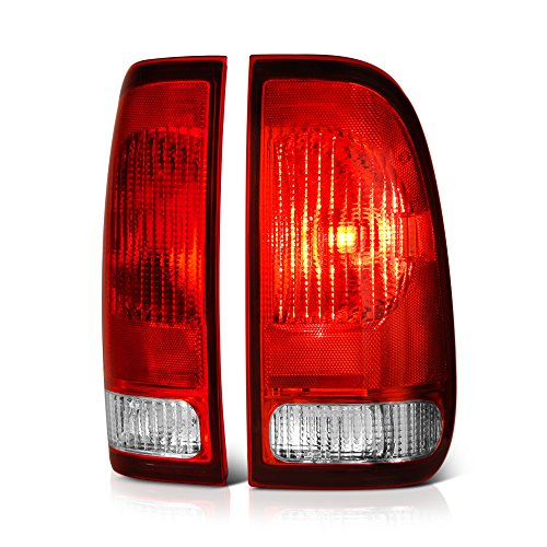 VIPMOTOZ Red Lens OE-Style Tail Light Lamp Assembly For 1997-2003 Ford F-150 & 1999-2007 F-250 F-350 Superduty Pickup Truck, Driver & Passenger Side