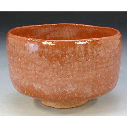Kiyomizu-kyo yaki ware. Japanese Matcha chawan teabowl Aka raku wakayama with wooden box. Ceramic. kymz-TSW737