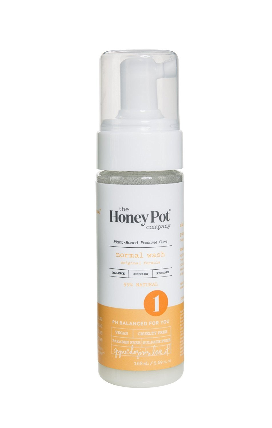 The Honey Pot Normal Feminine Wash 5.69oz. – Natural, Herbal Feminine Hygiene Wash, For Normal Skin Types