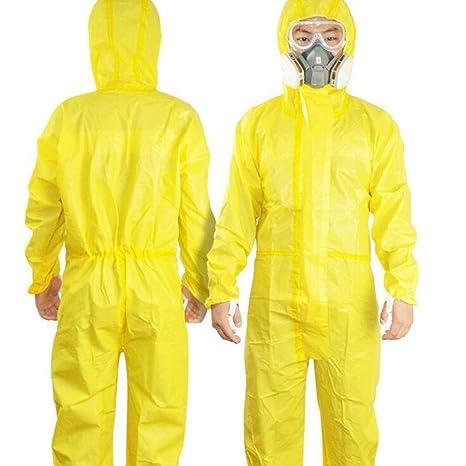 FLYSXP Ropa De Protección Química con Cubierta, Overol De ...