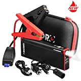 Grepro 1000A 18000mAh Portable Car Jump Starter with Aluminum Alloy Shell and Upgraded