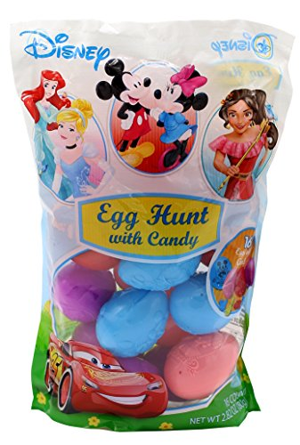 Frankford Candy Company Disney Embossed Plastic Candy Egg Bag, 2.82 Ounce Disney Easter Baskets