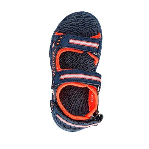 GEKA Crispy V, Sandalias Punta Cerrada Para Niños Azul (Marine/orange Marine/orange)