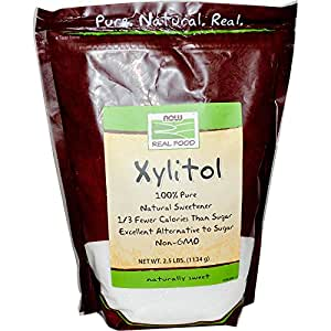 Now Foods Xylitol, 2.5 pound bag (Pack of 2)