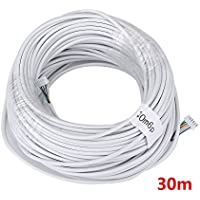 MOUNTAINONE 30M 2.546P 6 wire cable for video intercom Color Video Door Phone doorbell wired Intercom cable