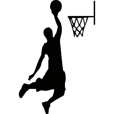 YINGKAI Male Basketball Player Dunking on Light Switch Decal Vinyl Wall Decal Sticker Art Living Room Carving Wall Decal Sticker for Kids Room Home Window Decoration: Home & Kitchen