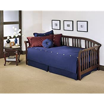 salem complete wood daybed with link spring mahogany finish twin