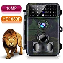 Tvird Trail Camera 16MP 1080P Wildlife Camera Super Night Vision 2018 Newest Game Camera 125° Detecting Range and 66 FT Motion Activated with 2.4'' LCD Display IP 66 Waterproof Protected