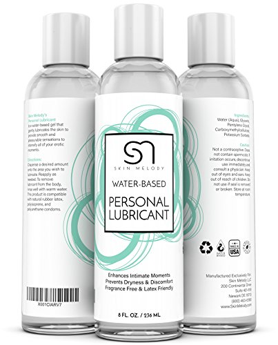Personal Lubricant for Men & Women + Couples - Water Based Lube for Intimate Sensual Moments - Lubes Skin & Body for Silky Stimulation - Compatible with Silicone Toys & Great for Sensitive Skin - 8 OZ by Skin Melody (Image #3)