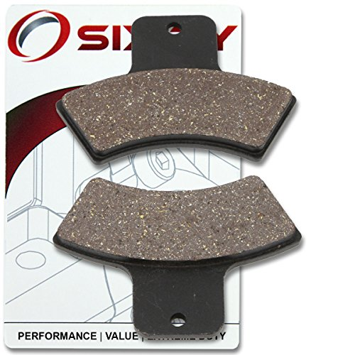 Sixity Rear Organic Brake Pads 1999-2000 Polaris Trail Blazer 250 Set Full Kit