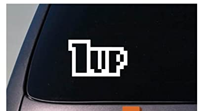 "1UP JDM 6"" STICKER DECAL CAR WINDOW TURBO RACING STREET FAST GAMER VIDEO GAMES *"