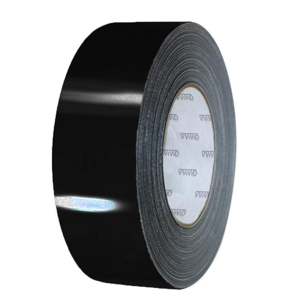 VViViD Black Gloss Air-Release Adhesive Vinyl Tape Roll 8 Inch x 20ft