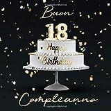 Buon Compleanno: 18 Anni - Libro degli ospiti con 110 Pagine - Copertina nera