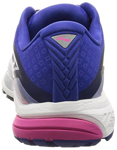 Brooks Ladies Ravenna 8 Running Shoes Multicolore (argento / Clematisblue / Veryberry)