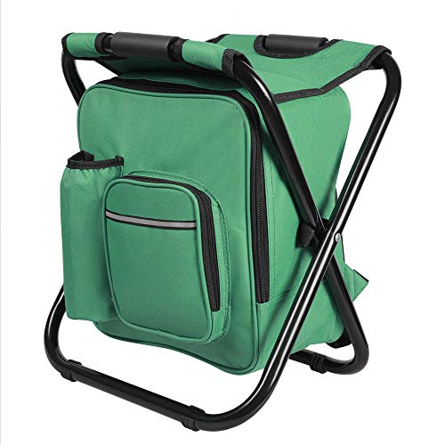 Anya Nana Easy Seat Carry Folding Stool Insulated Cooler Bag Backpack Chair Beach Fishing Camping Hiking Green
