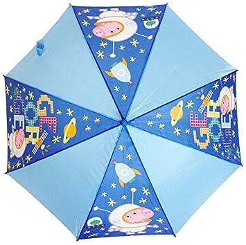 Peppa George Pig 4768--Paraguas infantil automático, diseño de Monster High