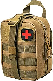 NuCamper Tactical Medical Molle Pouch, Rip Away EMT First Aid Pouches IFAK Utility Medical Bag for Outdoor Act