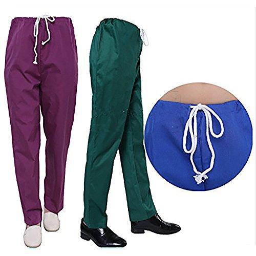 THEE Uniforme Médico Ropa Quirúrgica de Manga Corta Bata Médico Laboratorio Enfermera Sanitaria Unisex: Amazon.es: Ropa y accesorios
