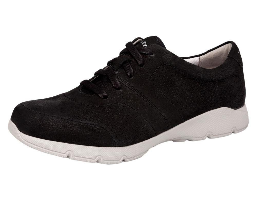 Dansko New Women's Alissa Sneaker Black Milled Nubuck 39