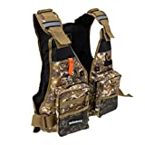 MonkeyJack Safety Fishing Vest Sailing Aid Kayak Boating Swimwear Survival Jacket – Desert Camouflage