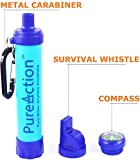 Best Portable Water Filter Camping Water Purifier - 50% More Filtration Capacity Than Lifestraw Personal Filter - The Best Purification at 0.01 Microns - Portable Water Filter with Bottle Attachment for Hiking/Prepping/Survival