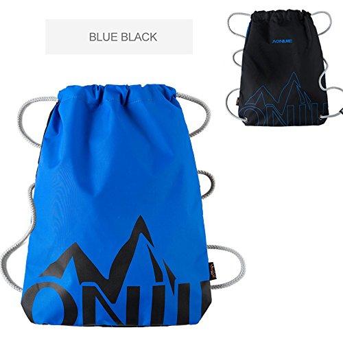 Sac Corde Sac Ride bleu pied Bike et à plein épaules dos à double Outdoor à air tirer Camping dos d'escalade noir à Sports de rangée wqYHxnFB5t