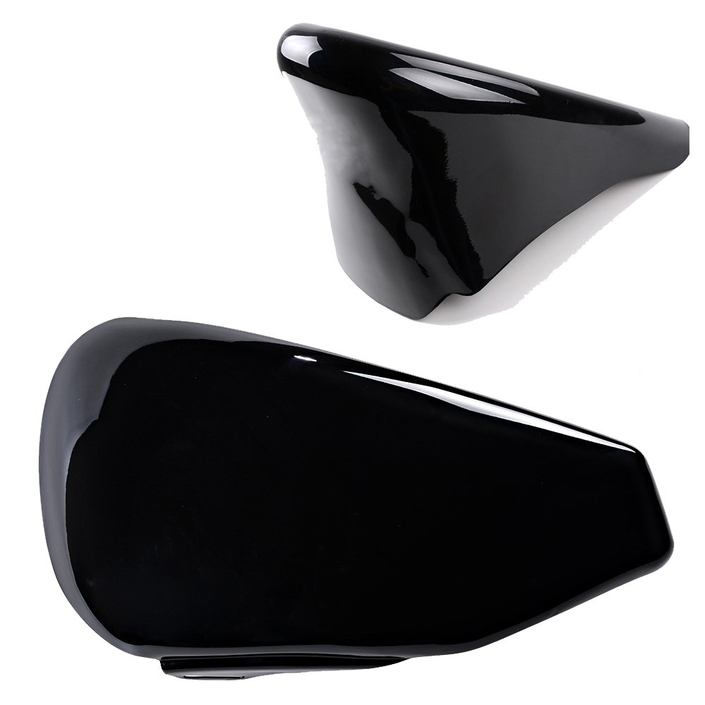 Glossy Black Left Side Battery Cover + Chin Spoiler Cover For 2004-2013 Harley Sportster XL 1200 883