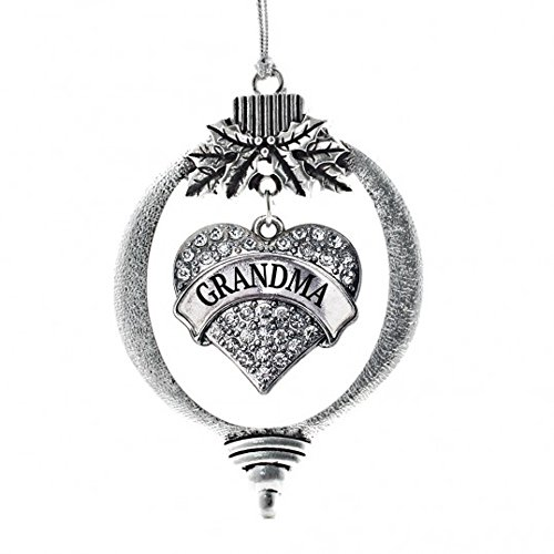 MadSportsStuff Christmas Ornament with Crystal Grandma Heart charm