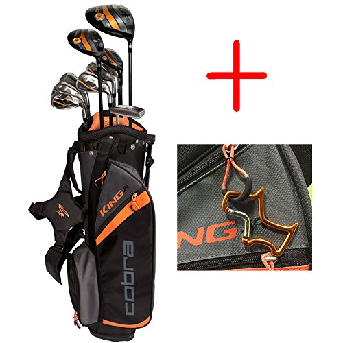 2017 Cobra Golf Junior Complete Package Set King Series 11 Pieces age 13-15 comes with 1 Orange Custom Design Towel Ring by Cobra Golf