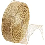 2 m gold mesh ribbon diy bow Christmas tree s