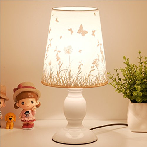 Bedside Reading Light Led Table Lamp 110V E27 Desk Lamp Contemporary Study Bedside Lamps for Table Home Decor Lights Book Lamps JiFengCheng (White)