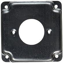 """Raco 811C Cast Iron 4"""" Square Cover 30a Lock, 1.719"""" Diameter"""