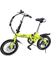 Riscko Super Bike Bicicleta Plegable Unisex de 16 (Amarillo ...