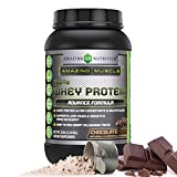 Cheap Amazing Muscle 100% Whey Protein Powder *Advanced Formula with Whey Protein Isolate as a Primary Ingredient Along with Ultra Filtered Whey Protein Concentrate (Chocolate, 2 lb)