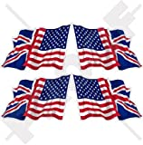 union jack helmet - USA United States America & British Union Jack Waving Flag, US & UK 2