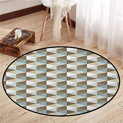 Pet Rugs,Geometric,Abstract Triangles Chevron Three Dimensional Effect Shapes with Soft Colors Image,Super Absorbs Mud,5'3