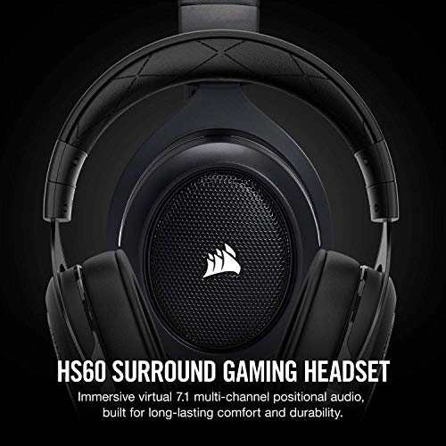 Corsair HS60 - 7.1 Virtual Surround Sound PC Gaming Headset w/USB DAC - Discord Certified Headphones - http://coolthings.us