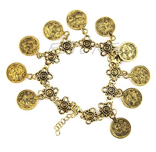(NNDA CO New Coin Anklet Bracelet.Boho Gypsy Beachy Ethnic Tribal Festival)